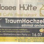 Moses Hütte Hochzeiten