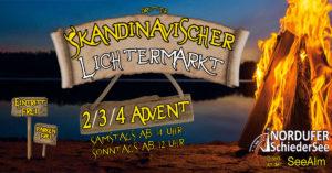 Dritter skandinavischer Lichtermarkt am Nordufer SchiederSee